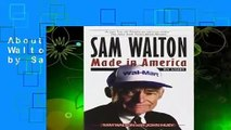 About For Books  Sam Walton: Made In America by Sam Walton