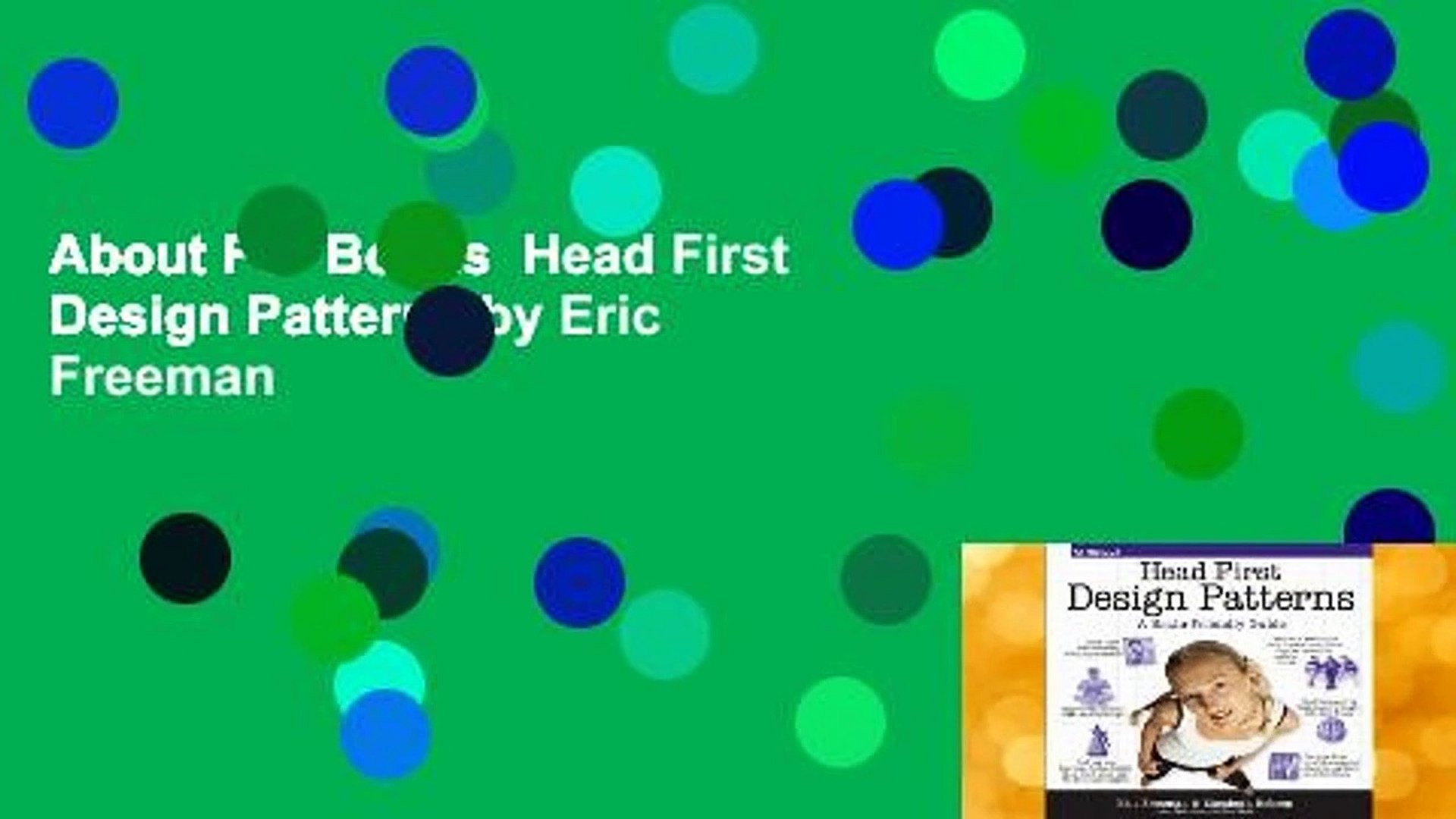 About For Books  Head First Design Patterns by Eric Freeman