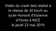 Crash-test au lycée Honoré d'Estienne d'Orves à NICE