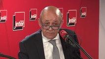 """Jean-Yves Le Drian, ministre des Affaires étrangères sur le sort des djihadistes français condamnés en Irak : """"Nous multiplions les démarches pour éviter la peine de mort à ces quatre Français"""""""