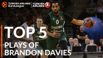 Top 5 Plays, Brandon Davies, All-EuroLeague First Team
