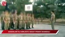 Askerleri ile birlikte Sedat Peker skandalı