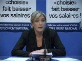 FN - Marine Le Pen sur le Rapport Attali 15/01/2008
