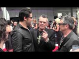 Dan Sultan reunites with INXS' Tim & Jon Farriss on the ARIA Red Carpet 2014