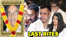 Bollywood Celebs PAY Their LAST RESPECT To Ajay Devgn's Father Veeru Devgan _ Salman Khan, Amitabh
