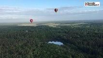 VIDEO. Vol au-dessus de la Sologne avec les montgolfières du Trophée François Ier