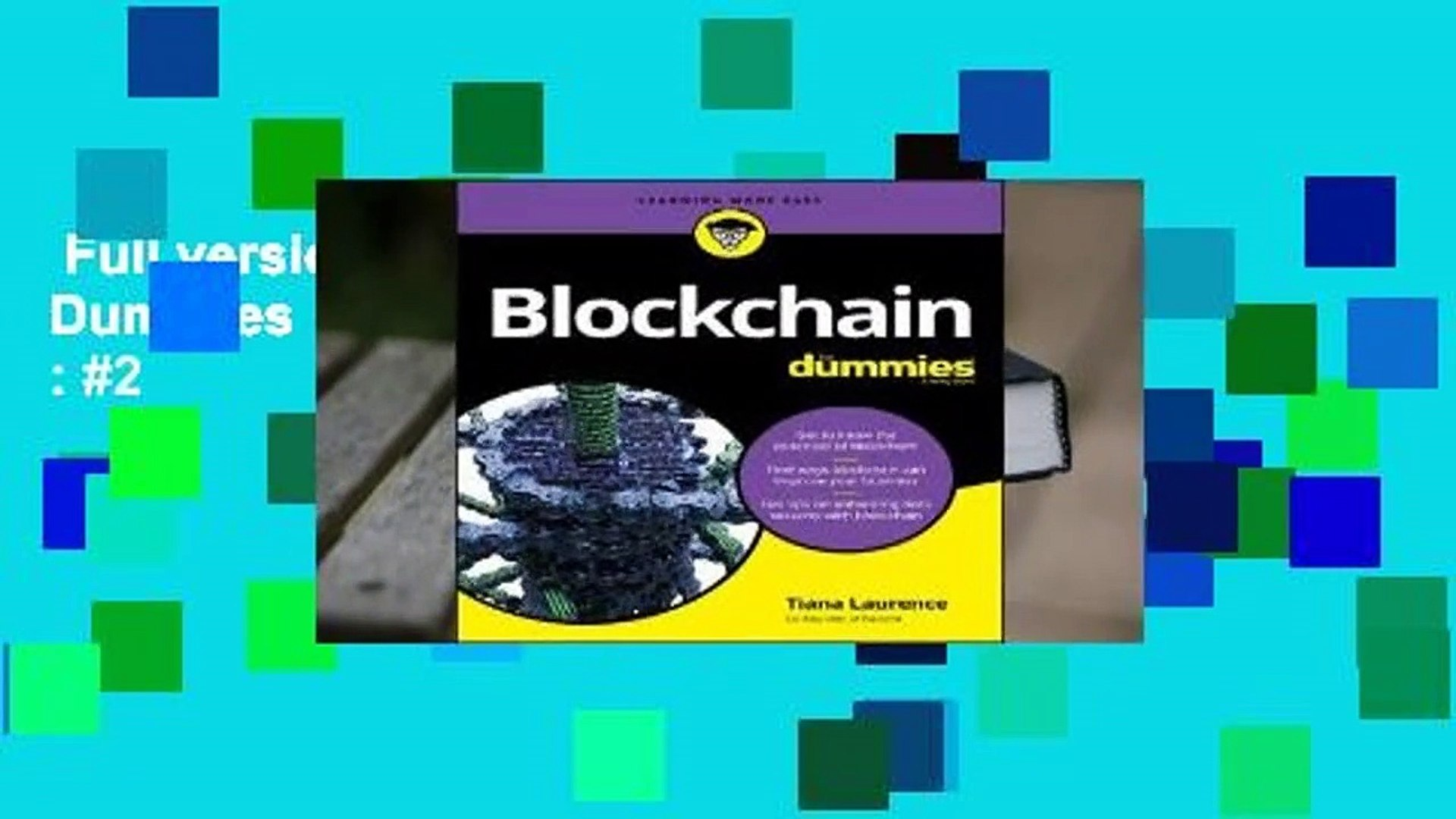 Full version  Blockchain for Dummies  Best Sellers Rank : #2
