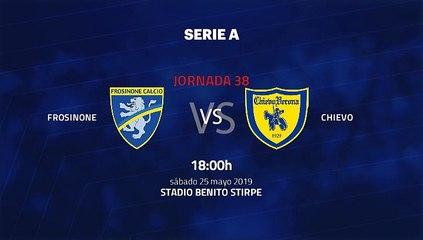 Previa partido entre Frosinone y Chievo Jornada 38 Serie A