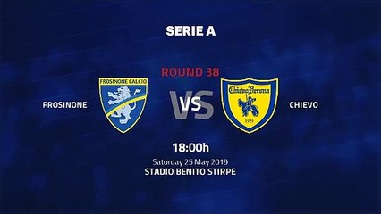 Pre match day between Frosinone and Chievo Round 38 Serie A