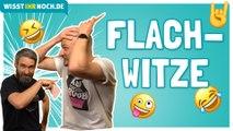 FÜßE HOCH: Flachwitze Challenge - Versuche nicht zu lachen!