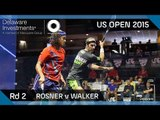 Squash: Delaware Investments US Open 2015 - Rd 2 Highlights - Rosner v Walker