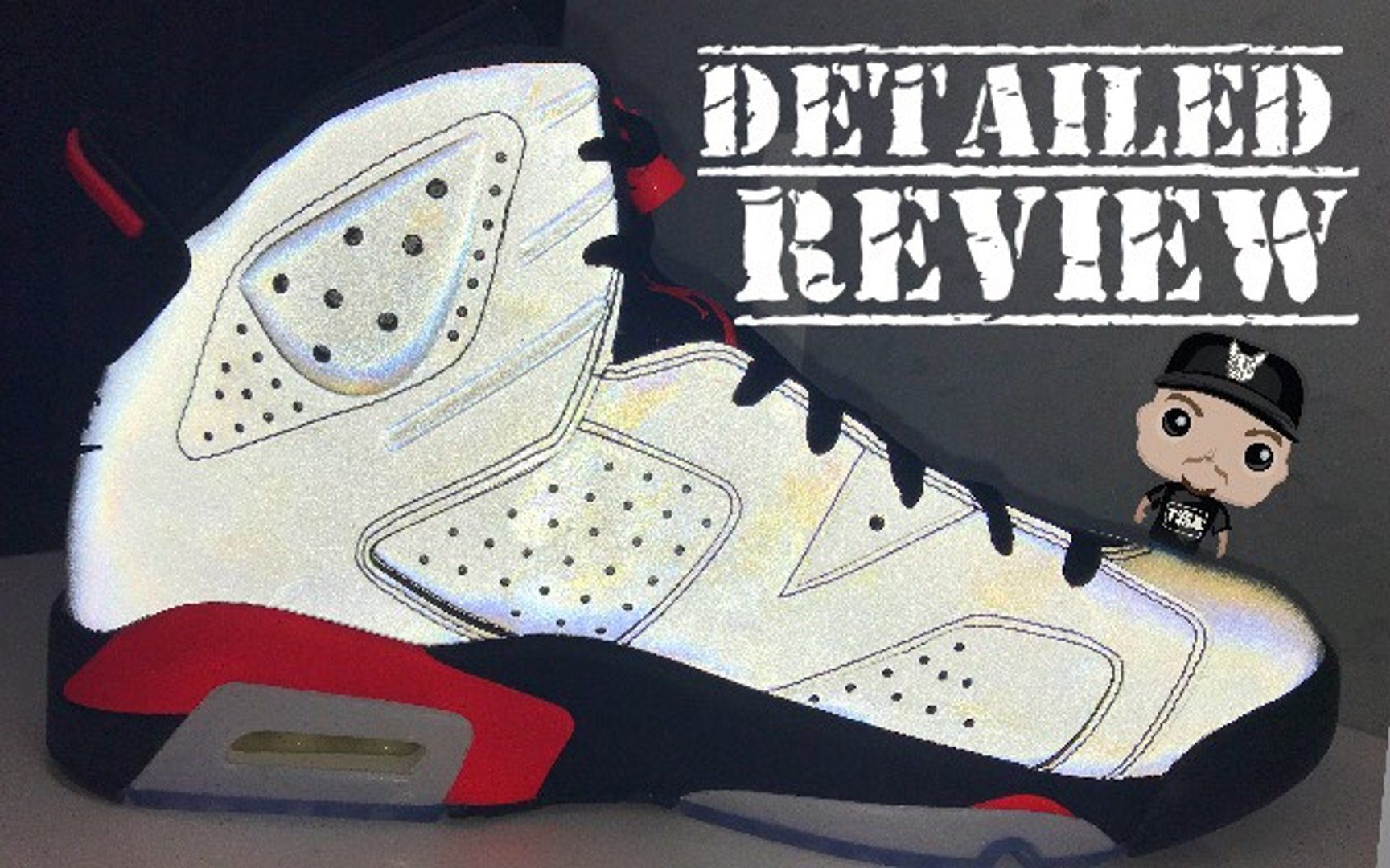 Air Jordan 6 VI Reflection of a Champion Infrared 3M Retro Sneaker Detailed Look With Reflective Test