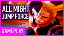 Jump Force DLC All Might Combos And Ultimate Move Gameplay