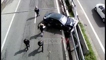 Report TV -Laç, përplasen 'kokë më kokë' dy makina, katër të plagosur rëndë