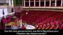 Le député LFI Loïc Prud'homme utilise la langue des signes à l'Assemblée nationale pour alerter sur la situation des personnes sourdes - VIDEO