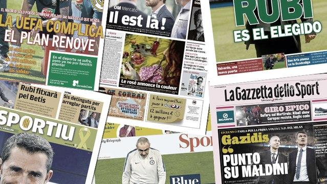 L'UEFA complique la révolution mercato du Real Madrid, le coup de sang de Maurizio Sarri fait les gros titres en Angleterre