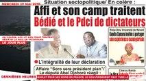 Le Titrologue du 29 Mai 2019 : En colère, Affi et son camp traitent Bédié et le PDCI de dictateurs