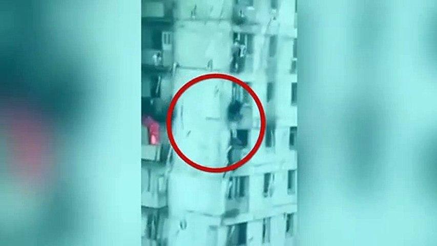 Héroe sin vértigo: se jugó la vida por salvar a dos niñas desde su balcón