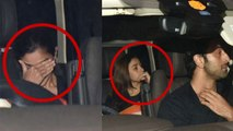 Alia Bhatt & Ranbir Kapoor spotted together, Alia hides her face; Watch video | FilmiBeat