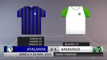 Match Review: Atalanta vs Sassuolo on 26/05/2019