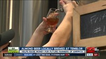 Almond beer locally brewed at Temblor
