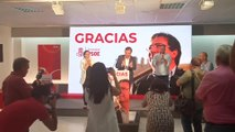 Vara celebra la victoria del PSOE en Extremadura