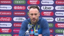 South Africa's Faf Du Plessis on England World Cup opener
