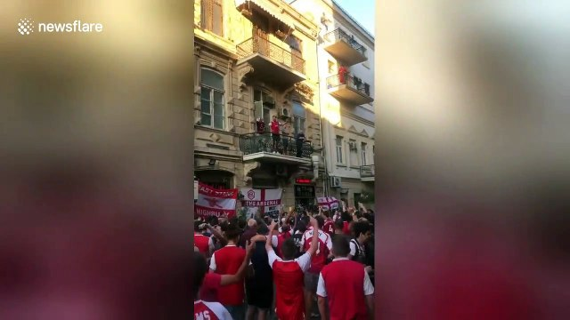 Arsenal fans take over Baku ahead of Europa League final