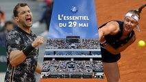 Roland-Garros 2019 - Abandon de Bertens et duel de cogneurs entre Dimitrov et Cilic : l'essentiel du 29 mai