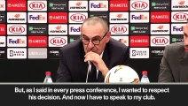 (Subtitled) 'Hazard is hard to understand but he's wonderful' Sarri