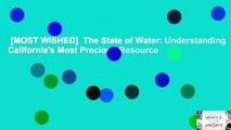 [MOST WISHED]  The State of Water: Understanding California's Most Precious Resource