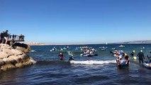 Marseille : la première course de ramassage de déchets d'Europe est lancée sur la plage des Catalans