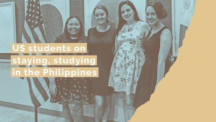 US students on staying, studying in the Philippines
