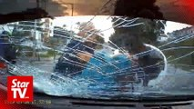 Cops nab windscreen-smashing road bully