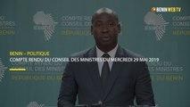 Bénin : compte rendu du conseil des ministres du mercredi 29 mai 2019
