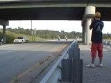 Moto stunt crash