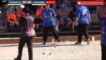 Pétanque : Championnats Territoriaux Rhône-Alpes 2019 à Chabeuil - Demi TAUBAN (69) vs FONTAINE (74)