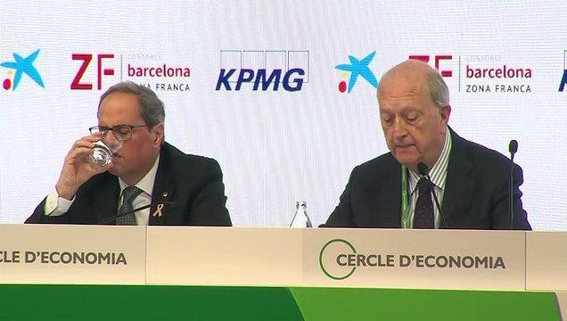 """El Círculo de Economía retrata a Torra en su presencia: """"Cataluña pierde poder económico"""""""