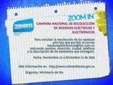 ZOOM IN   CAMPAÑA NACIONAL DE RECOLECCIÓN DE RESIDUOS ELÉCTRICOS Y ELECTRÓNICOS