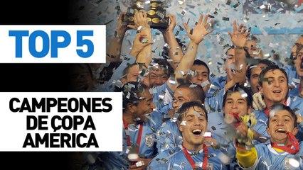 Top 5 campeones de Copa América