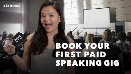 Book Your First Paid Speaking Gig With These 3 Steps