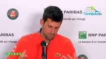 """Roland-Garros 2019 - Novak Djokovic : """"C'est peut-être mon état d'esprit qui m'a permis de briller"""""""