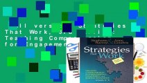 Full version  Strategies That Work, 3rd edition: Teaching Comprehension for Engagement,