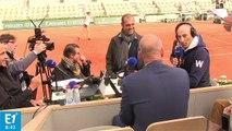 """Nelson Monfort : """"Les Français peuvent gagner des matchs à Roland Garros...en jouant contre un autre Français !"""" (Canteloup)"""