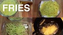 'French Fries' - Crispy Fries Recipe - Homemade French Fries Recipe - Indian Vegetarian Recipe.