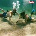 Antrag 10 Meter unter der Wasseroberfläche