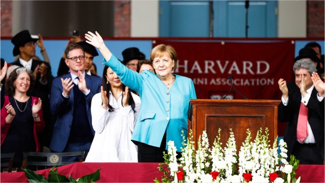 Merkel To Harvard Grads: 'Tear Down Walls Of Ignorance And Narrow-Mindedness'