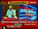 PM Narendra Modi takes Charge, pays tributes to Mahatma Gandhi, Sardar Patel
