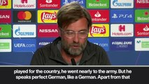 (Subtitled) Klopp expects Germany to back Liverpool