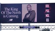 Kawhi Leonard & New Balance Put Up SAVAGE Billboard In The Bay TROLLING Warriors